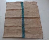 Jute Rice Bag/Sack with Green Stripe
