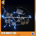 16l led blanco luz de la secuencia wiith orignal de madera copo de nieve ornamento