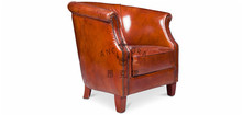 New classical European American leather sofa chair furniture/ vintage antique finish living room sofa/tiger chair K651