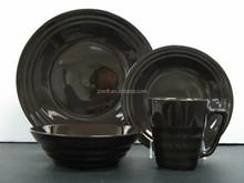 16pcs chocolate ceramic dinnerware set from henan ceramic factory directly