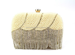 GZ QH elegant lady bags beaded rhinestone evening bags pearl clutch bag