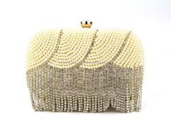 GZ QH elegant lady bags beaded rhinestone evening bags pearl clutch bag