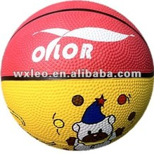 Colorful rubber basketballs