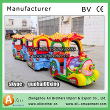 park rides for outdoor games Elephant battery Trackless Train For Sale