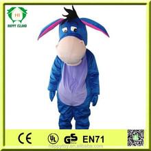 HI CE 2015 lovely popular promotional Eeyore custom mascot,funny mascot costumes