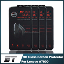Manufacturer China Wholesale 2015 Hot Products 0.33mm 9H Scratchproof 2.5D Tempered Glass Screen Protector For Lenovo A7000