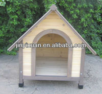Sweety pet house made of fir wood / Wooden dog kennel / wooden doghouse for dogs