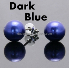 Hot Sell Christmas Ornament Fashion Jewelry Artificial Pearl Stud Earring,Fashionable bead earring