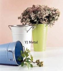 Round Metal Planting Bucket