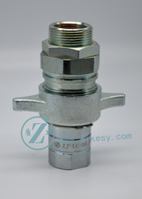 "ZJ-LC 1"" Wet Line (Wing Nut) Couplers/Couplings - Hydraulic Hose Quick Disconnects"