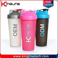 600ml plastic shaker bottle with mixer ball(KL-7010)