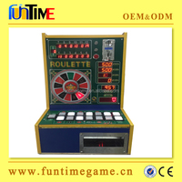 electronic tiny table top roulette machine / slot game roulette machine coin pusher