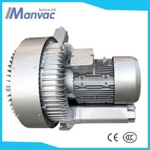 High pressure 11kw IP55 660mbar two impellers Side Channel Blower Accessories