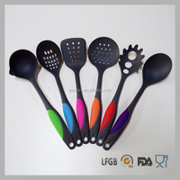 Colorful 6-Piece Nylon Kitchen Utensil Sets Nylon Cooking Tools/kitchen unit set