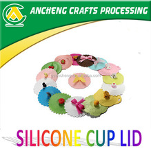 Prmotion gifts silicone cup lid, cheap silicone cup lid, FDA/LFGB silicone cup lid