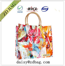 new design butterfly pattern colorful pp woven tote shopping bag for girls