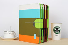 Colourful tpu tablet case for ipad flip back cover