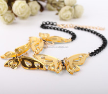 New arrival good quality costume jewelry wholesale fancy acrylic butterfly necklace statement necklaces 2015