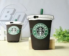 New Creative Style Cell Phone Case For Iphone6 6plus Starbucks Cup Gel Silicone Back Case Cover