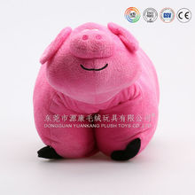 ICTI Audit factory oem cute pig 2 in 1 cushion for kids
