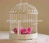 Wedding party decorative white wire bird cage