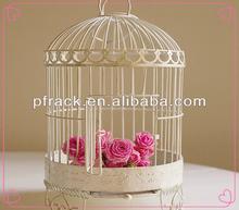 Wedding party decorative white wire bird cage