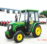 New Model 55hp 4WD china cheap good quality mini farm tractor with front end loader and backhoe for sale