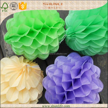 new years eve decorations Recycled ivory tissue paper flower balls