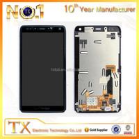 For Motorola Droid Razr M XT907 LCD Screen Digitizer Touch + Frame Faceplate Bezel