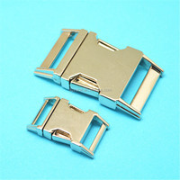 Low MOQ Ec0-fridenly metal buckles for bags,curved side release buckle,luggage bag buckles