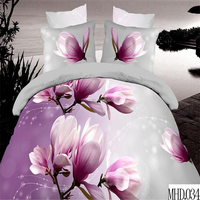 100% polyester queen size duvet covers set luxury comforter sets reactive flower printed bedding set