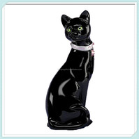 Wholesale eloquently elegant black resin cat figurine