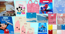 Different bag types die cut handle plastic packing bags/garment poly bag/hdpe and ldpe plastic bag for gift or shopping