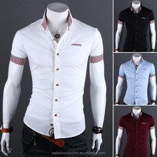 Men's Slim Fit Sexy Button Down Formal Casual Shirts T-Shirt Short Sleeve