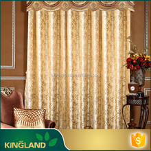 Decoration home Custom 100%Polyester heavy jacquard curtain