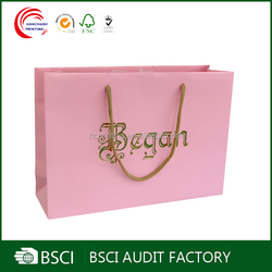 OEM order foldable craft paper shopping bag
