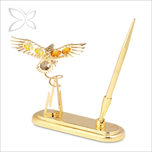 Luxury Trendy Gold Plated Crystals Pen Set With Logo