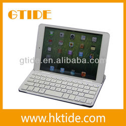 Mini keyboard with metal cover and magnetic clip for ipad mini cheap wireless accessories