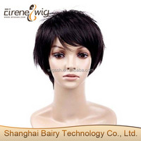 Natural looking cheap short 8 inch human hair wigs for black women in stock