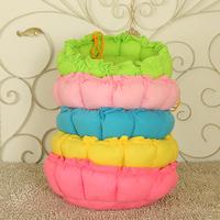 Colorful indoor dog house bed/fleece dog bed/round dog beds