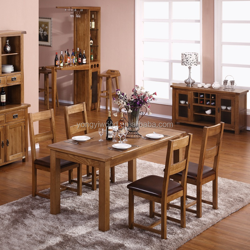 Cheap Wooden Dining Table And Chair Set - Buy Dining Table And Chair ...