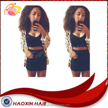 The most popular smooth new natural curl human hair half wig