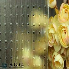 Internal Decoration 6mm frosted patterned glass Patterned Glass with ISO9001&CE
