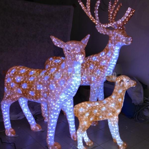 led motif light 3d outdoor christmas reindeerjpg - Outdoor Lighted Animal Christmas Decorations