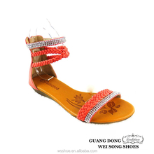 China factory roman style ankle strap custom made fashion 2015 summer back zip sandals