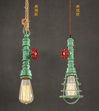 DIY retro waterdrop suspension wire pendant lamp for living room/coffee shop/restaurant