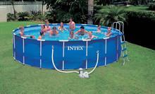 HOT above ground metal swimming pool oval intex metal frame pool