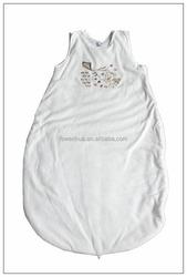 solf cotton snow white color baby sleeping bag