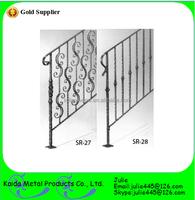 decorative wrought iron porch balusters / railings wholesale