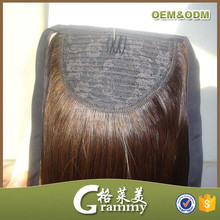 2015 Direct factory high quality human hair clip ponytail